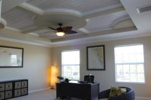 Custom Wood Ceiling, Crown Molding, Ceiling fan